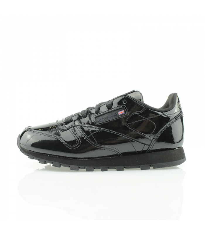 REEBOK CLASSIC LEATHER PATENT KIDS NEGRO