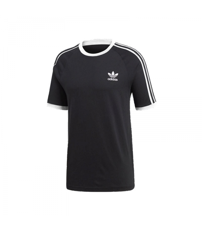 ADIDAS STRIPES CAMISETA NEGRO