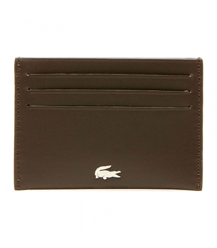 LACOSTE CREDIT CARD HOLDER MARRON
