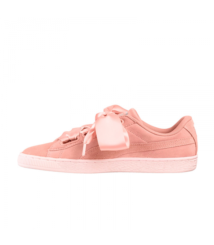 PUMA SUEDE HEART PEBBLE ROSA