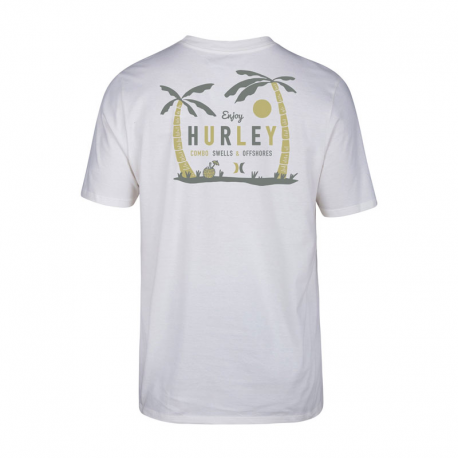HURLEY MADE IN THE SHADE CAMISETA BLANCO