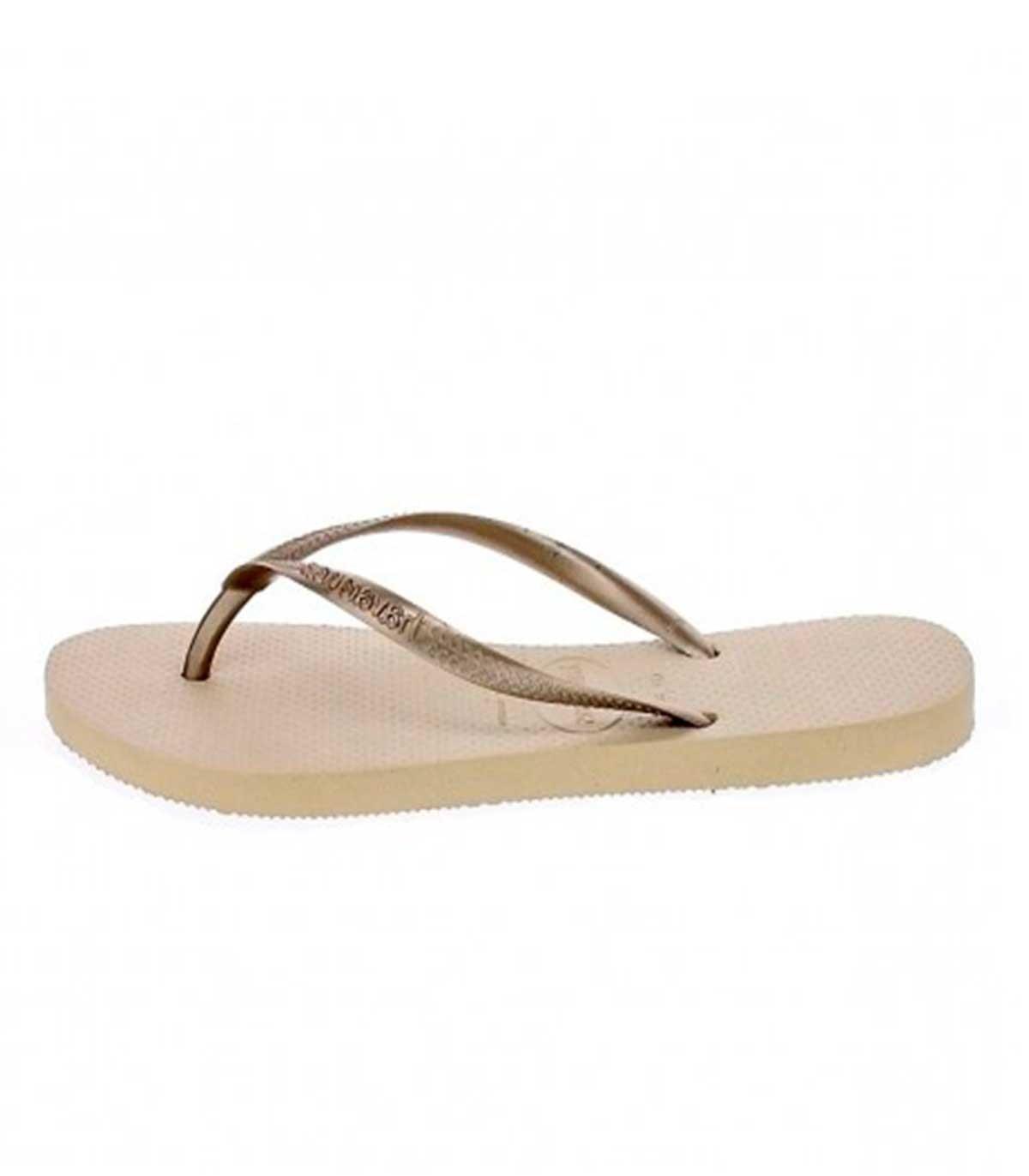 bbfad894e245 Buy Havaianas Slim bronze flip flops