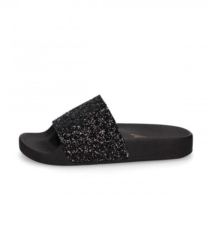Sandalias The Whitebrand Glitter Black