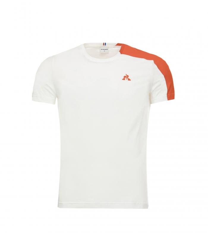 Le Coq Sportif Essentials Camiseta Blanco/Naranja