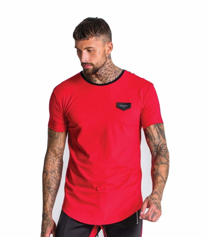 Camiseta Gianni Kavanagh Red Tee With Black Back Pannel