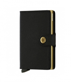 Cartera Secrid Miniwallet Crisple Black Gold