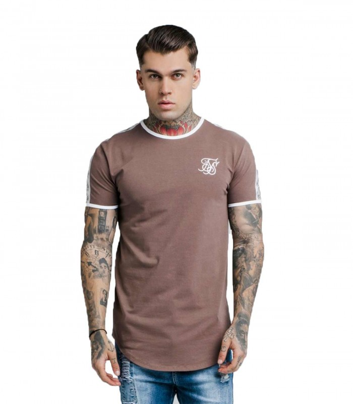 Camiseta Siksilk Curved Hem Taped Tee