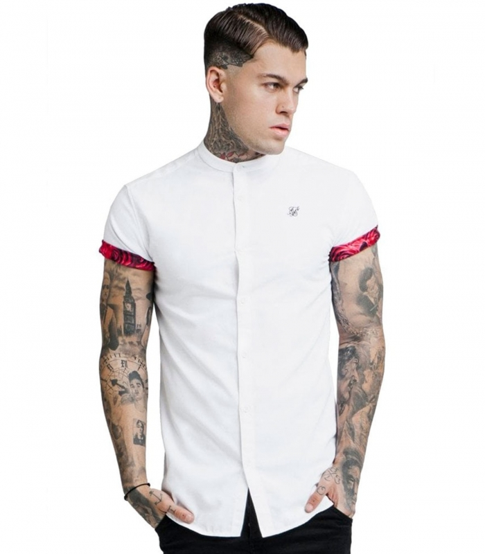 Polo Siksilk Grandad Collar Roll