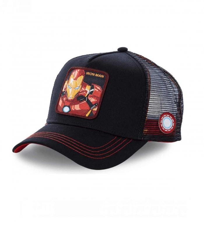 Gorra CapsLab Iron Man negra