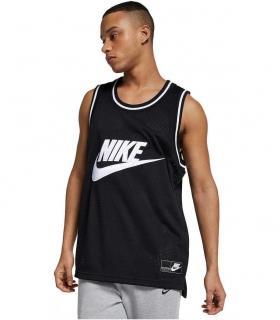 M NSW TANK STMT MESH Camiseta sin mangas color negro para hombre