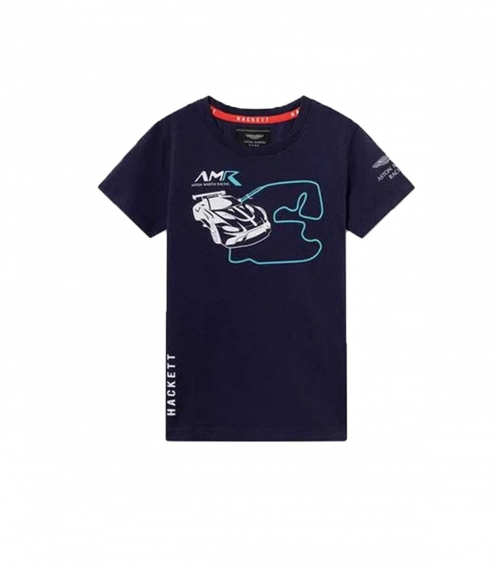 Hackett T-Shirt Amr Ctrk Blue Navy Racing