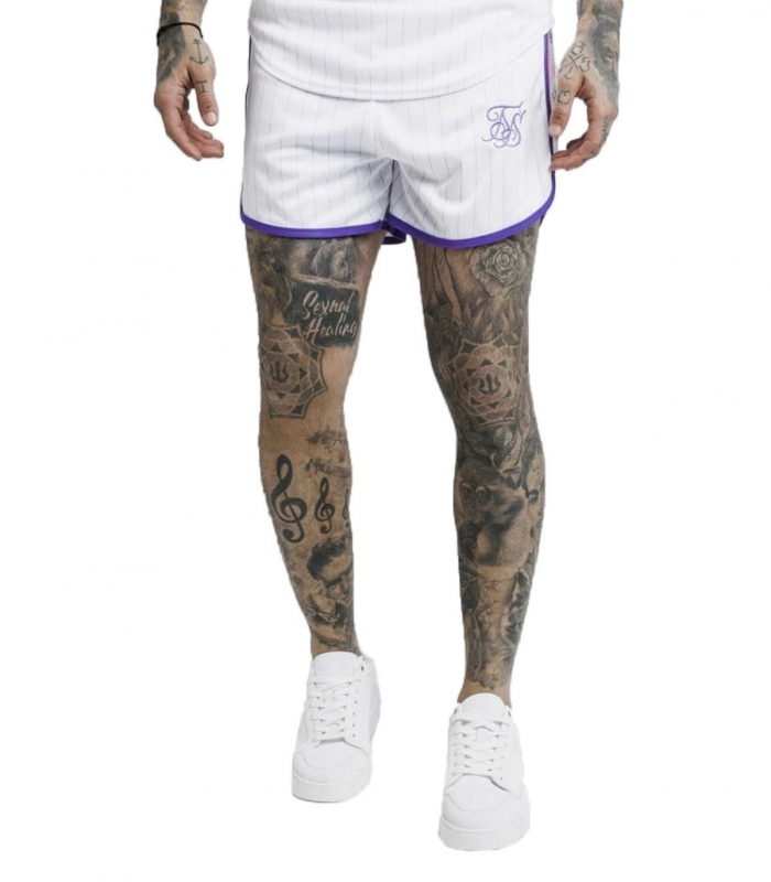 SikSilk Tape Trails Runner Shorts – White
