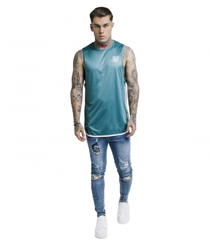 Camiseta SikSilk Tape Trials - Azul Turquesa