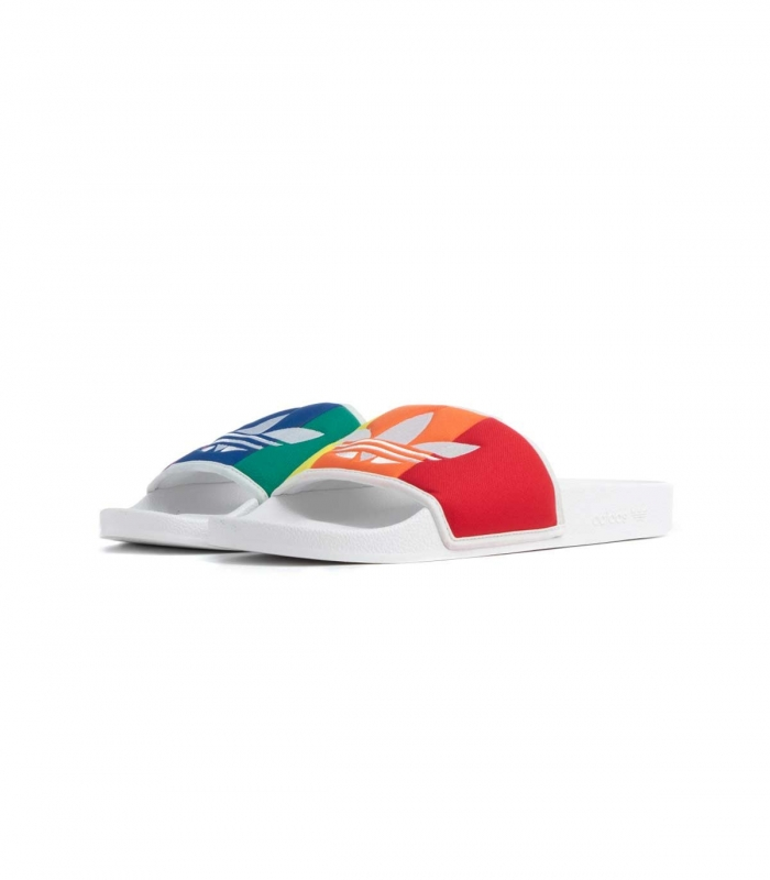 Multi-coloured Adidas Slides