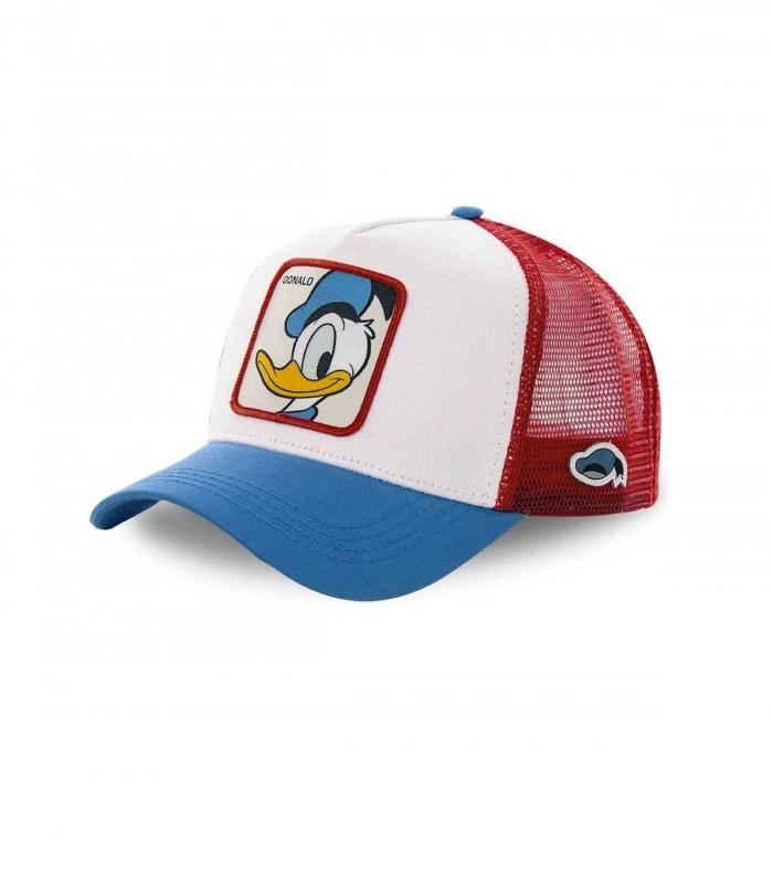 Gorra CapsLab Donald Duck roja, blanca y azul