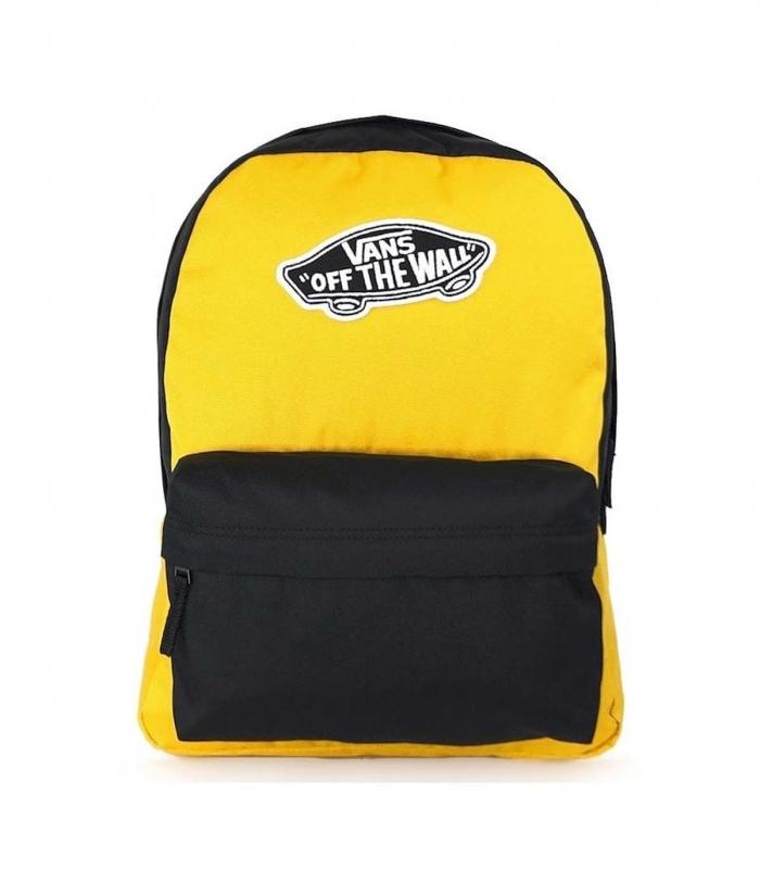 Mochila Vans Realm Backpack Negro y Mostaza