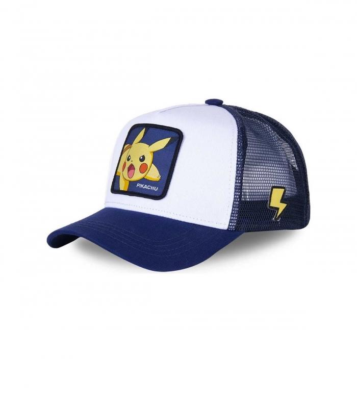 Casquette CapsLab Pikachu PIK8 Blanche et bleue