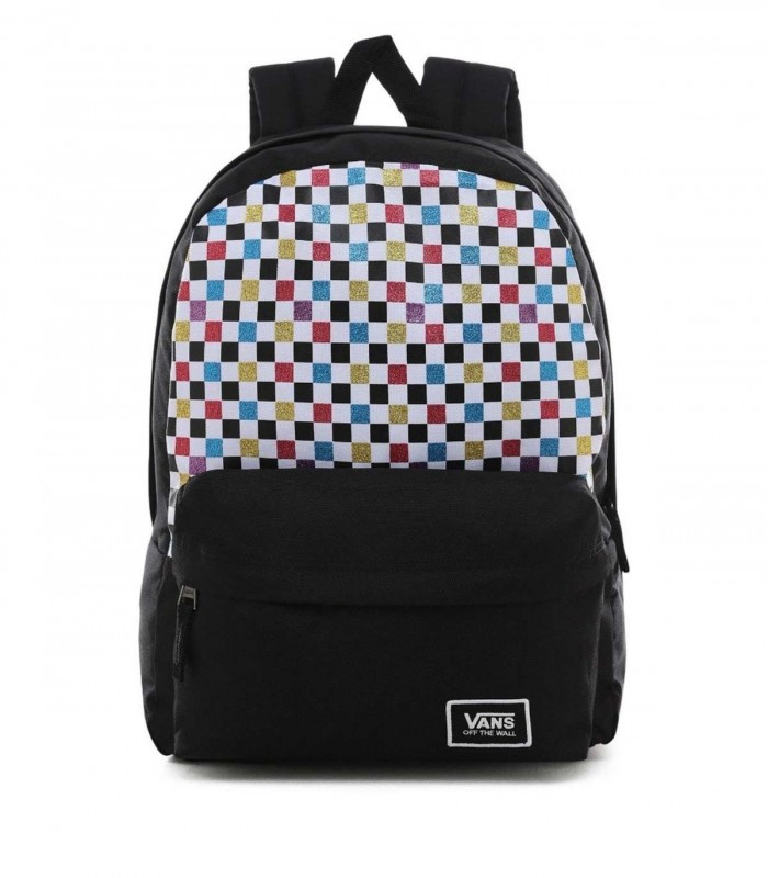 Mochila VANS Old Skool Glitter Check R