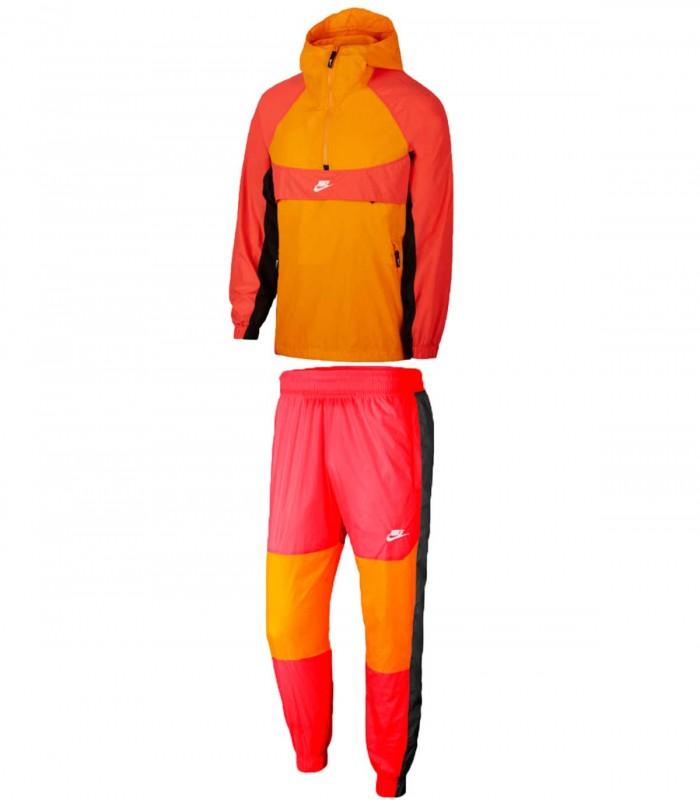 Chandal Nike naranja y rojo