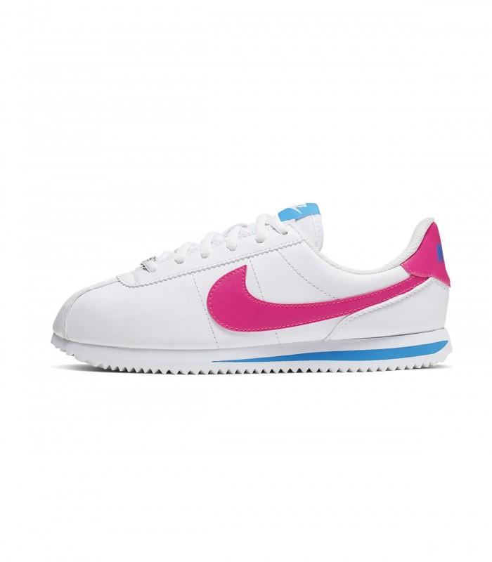 Zapatillas Nike Cortez Basic SL Blanco y Rosa