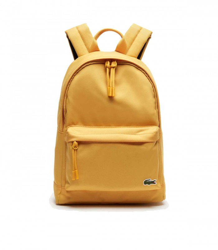 Lacoste Men's Neocroc Small Canvas Backpack yellow